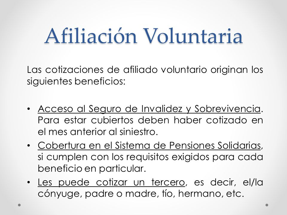 Afiliación Voluntaria