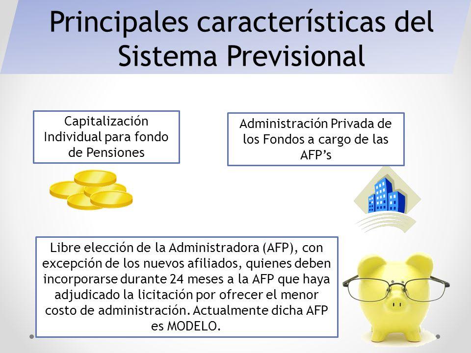 Principales características del Sistema Previsional