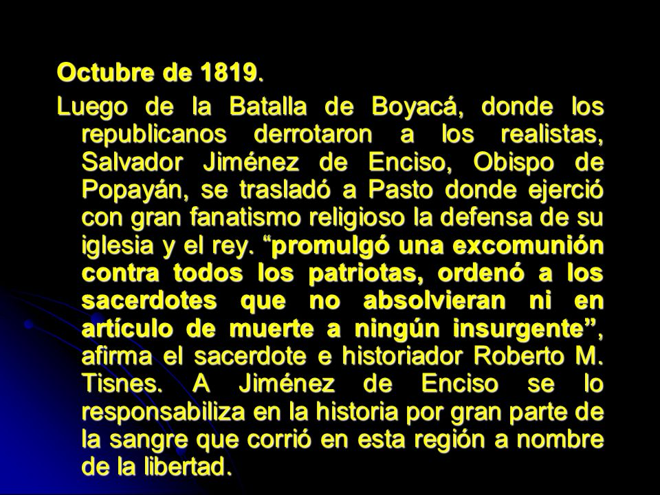 Octubre de 1819.