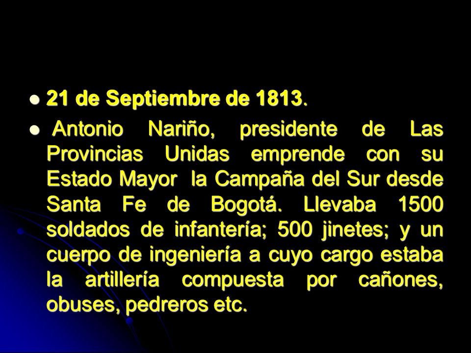 21 de Septiembre de 1813.