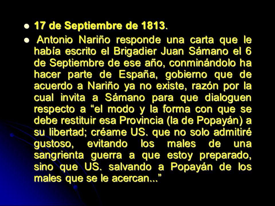 17 de Septiembre de 1813.
