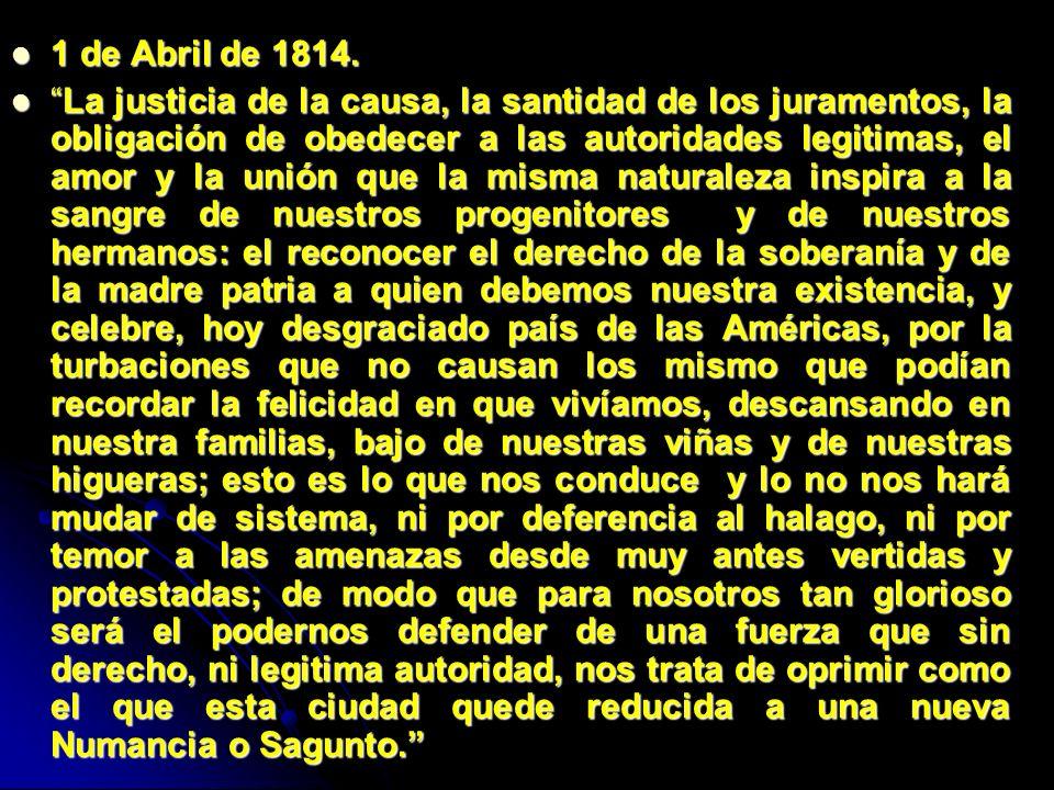1 de Abril de 1814.