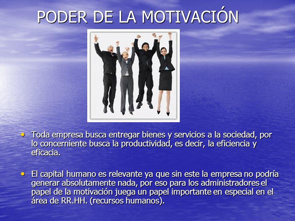PODER DE LA MOTIVACIÓN