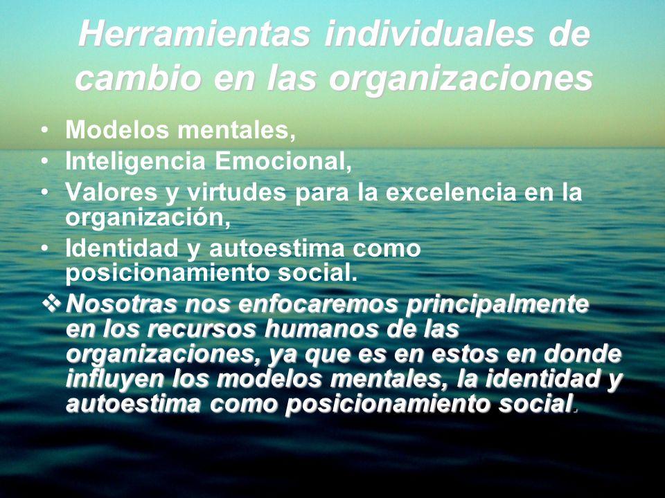 Herramientas individuales de cambio en las organizaciones