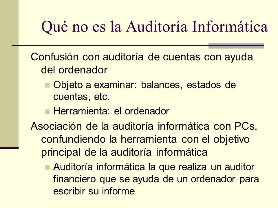 Qué no es la Auditoría Informática