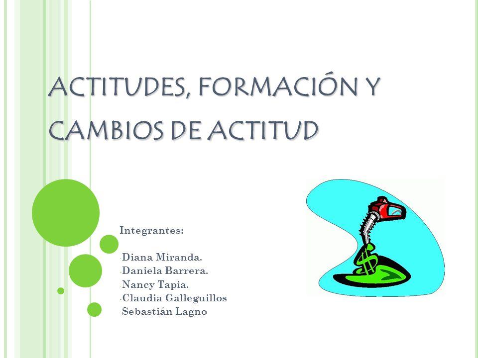 ACTITUDES, FORMACIÓN Y CAMBIOS DE ACTITUD