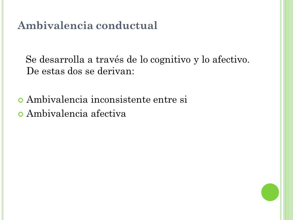 Ambivalencia conductual