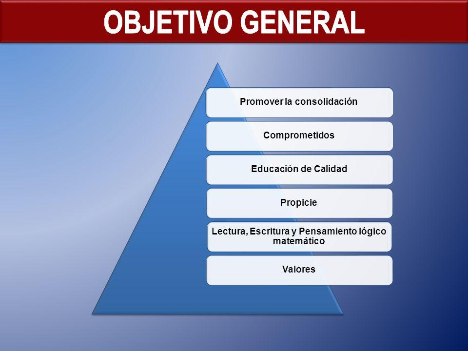 OBJETIVO GENERAL Promover la consolidación Comprometidos