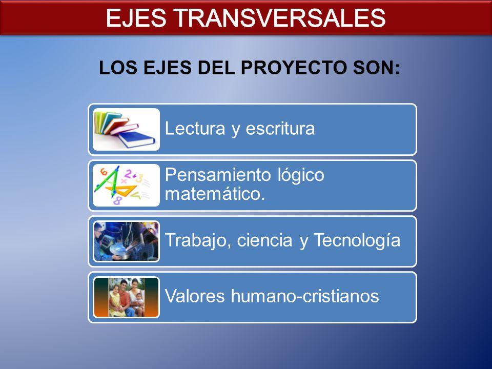 LOS EJES DEL PROYECTO SON: