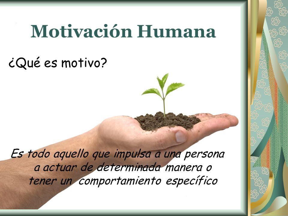 Motivación Humana ¿Qué es motivo