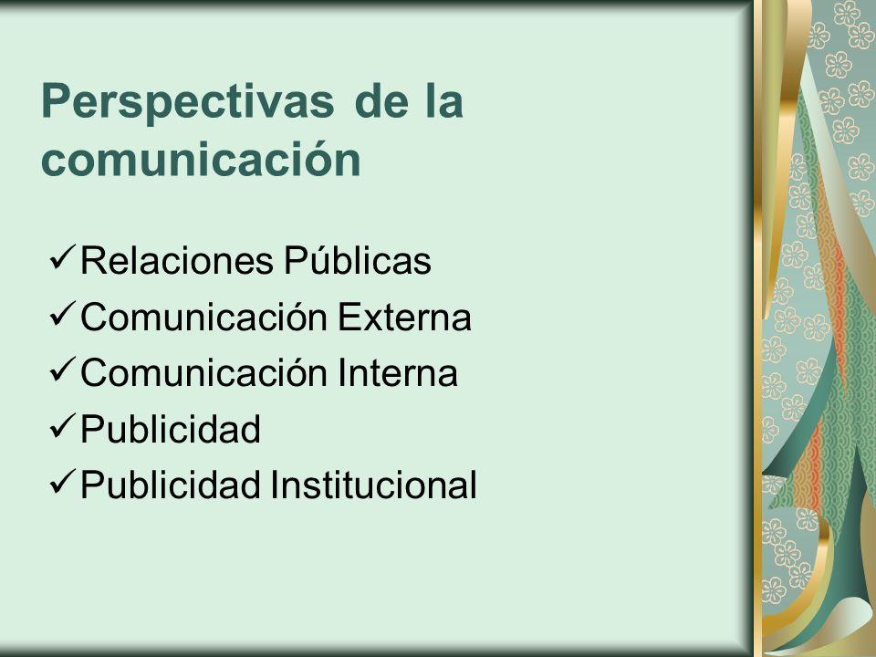 Perspectivas de la comunicación