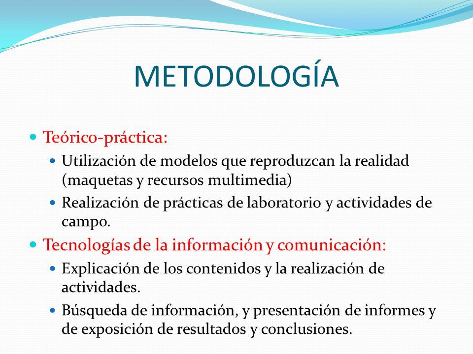 METODOLOGÍA Teórico-práctica: