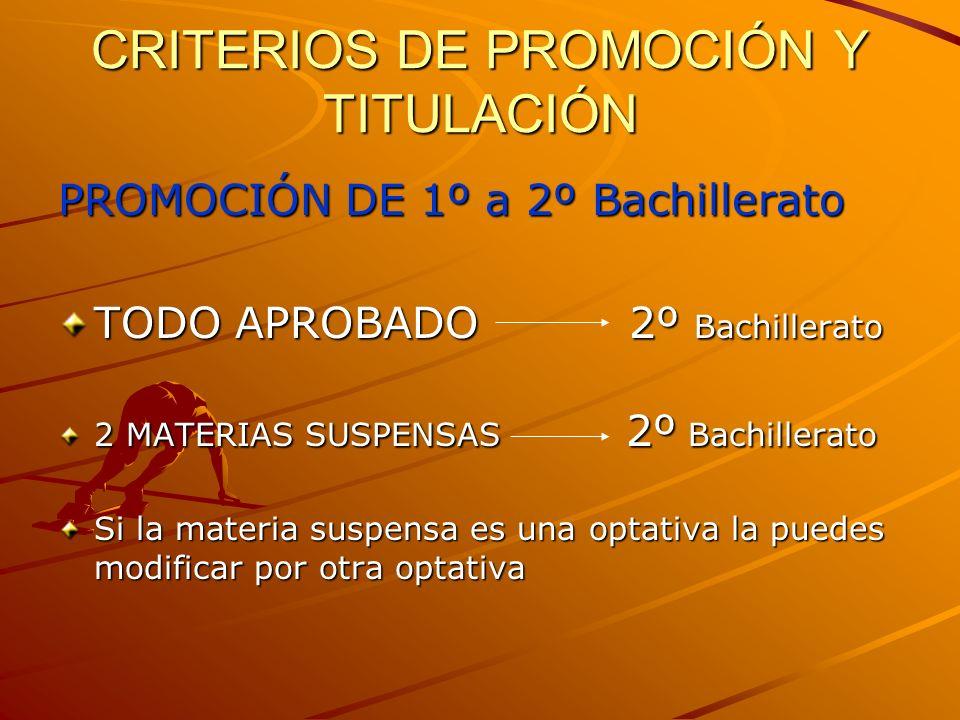 CRITERIOS DE PROMOCIÓN Y TITULACIÓN