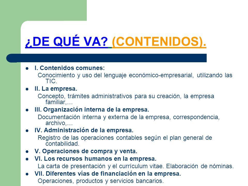 ¿DE QUÉ VA (CONTENIDOS).