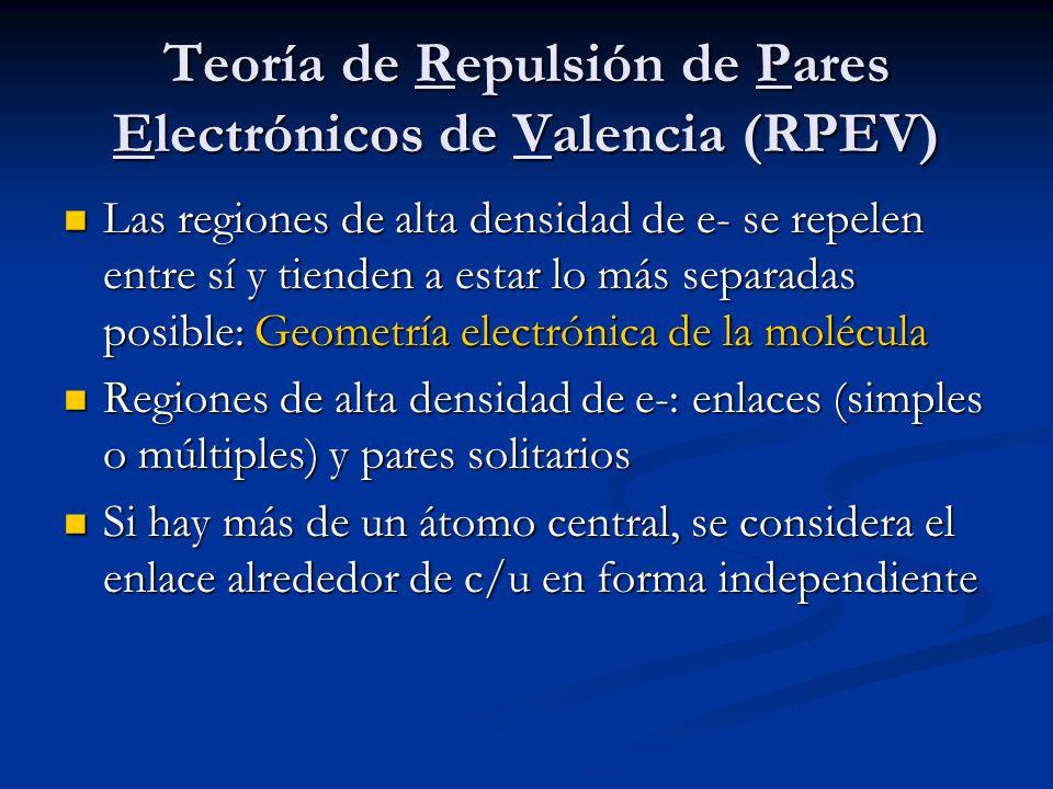Teoría de Repulsión de Pares Electrónicos de Valencia (RPEV)