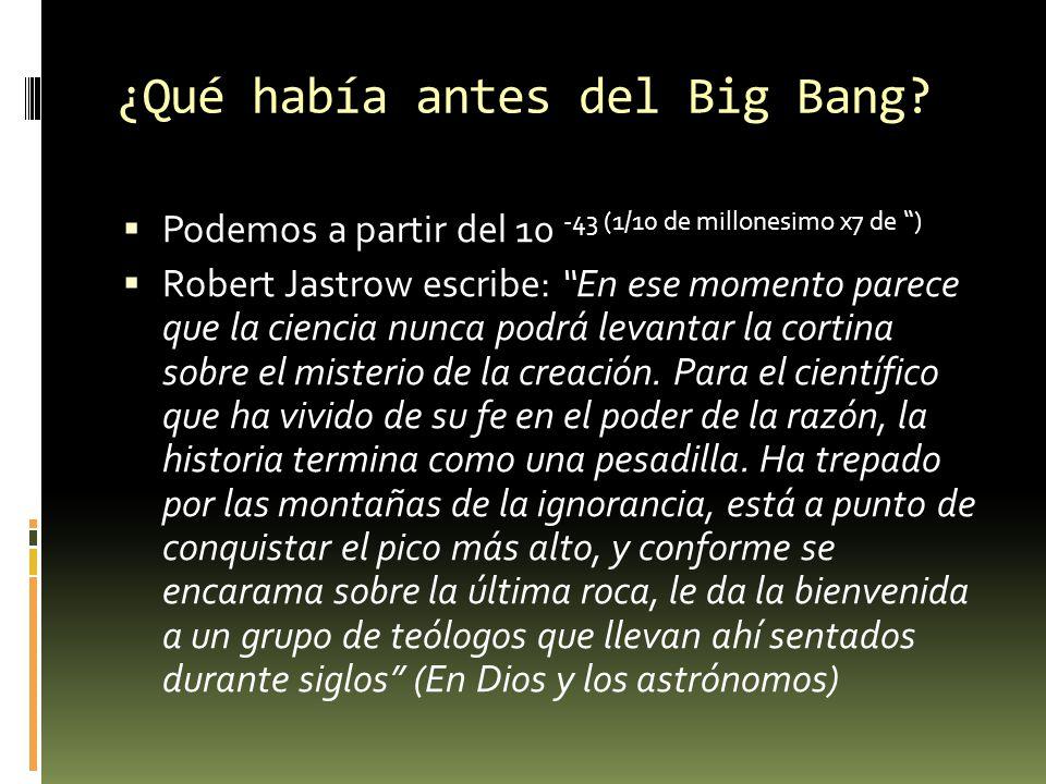 ¿Qué había antes del Big Bang