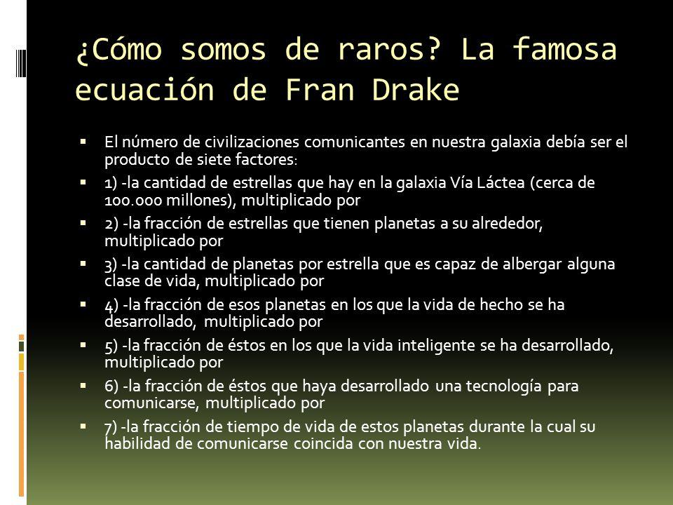 ¿Cómo somos de raros La famosa ecuación de Fran Drake