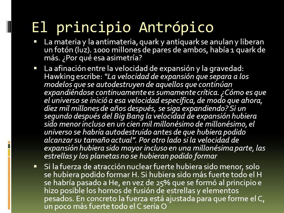 El principio Antrópico