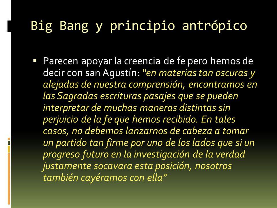 Big Bang y principio antrópico
