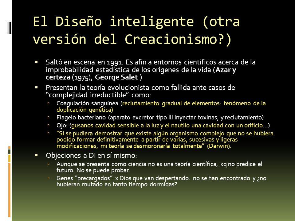 El Diseño inteligente (otra versión del Creacionismo )