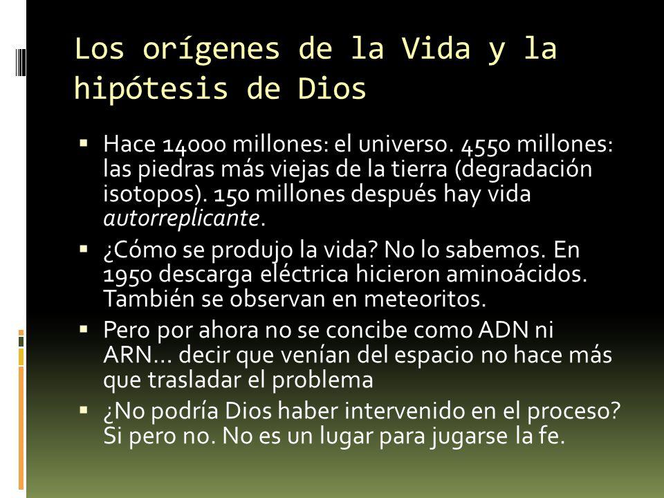 Los orígenes de la Vida y la hipótesis de Dios