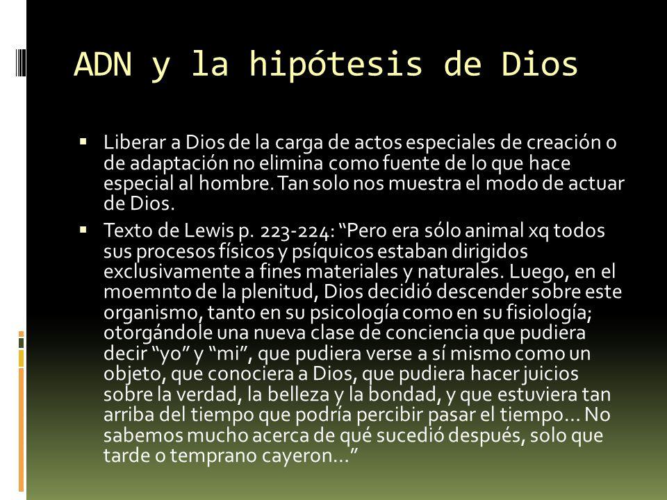 ADN y la hipótesis de Dios