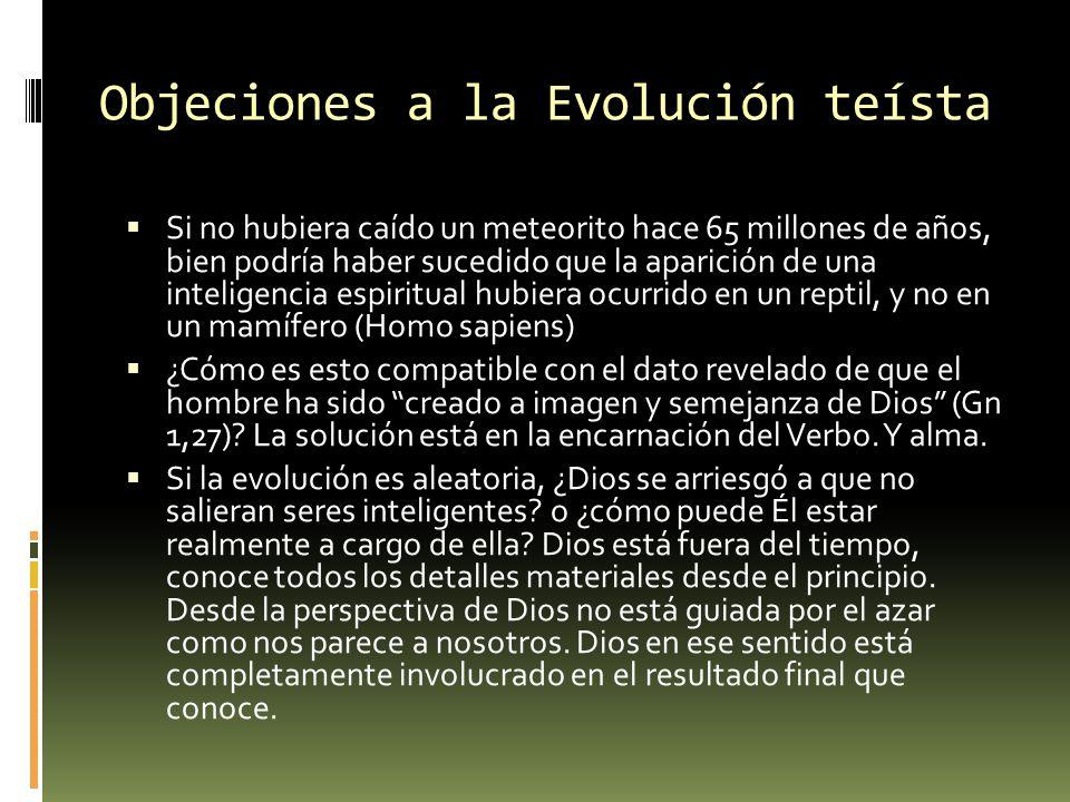 Objeciones a la Evolución teísta