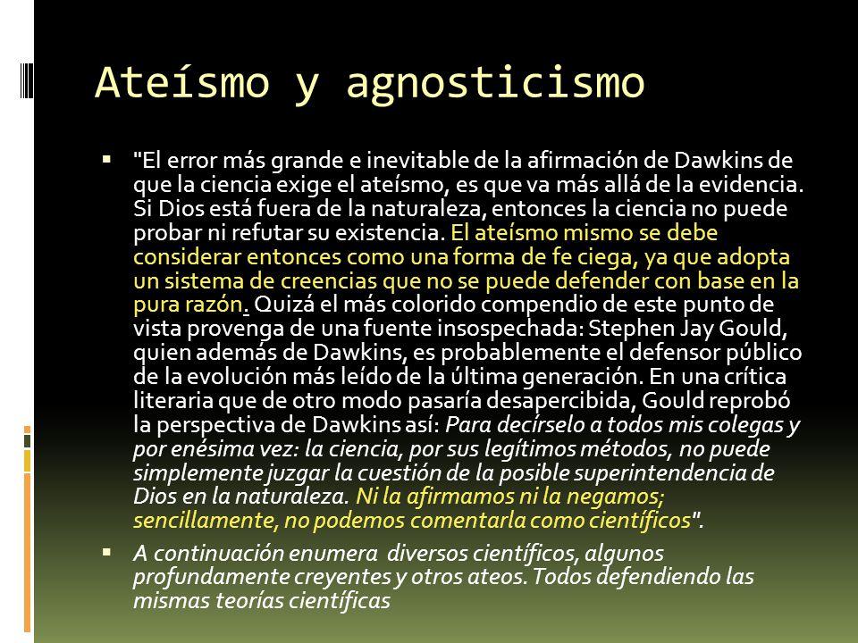 Ateísmo y agnosticismo