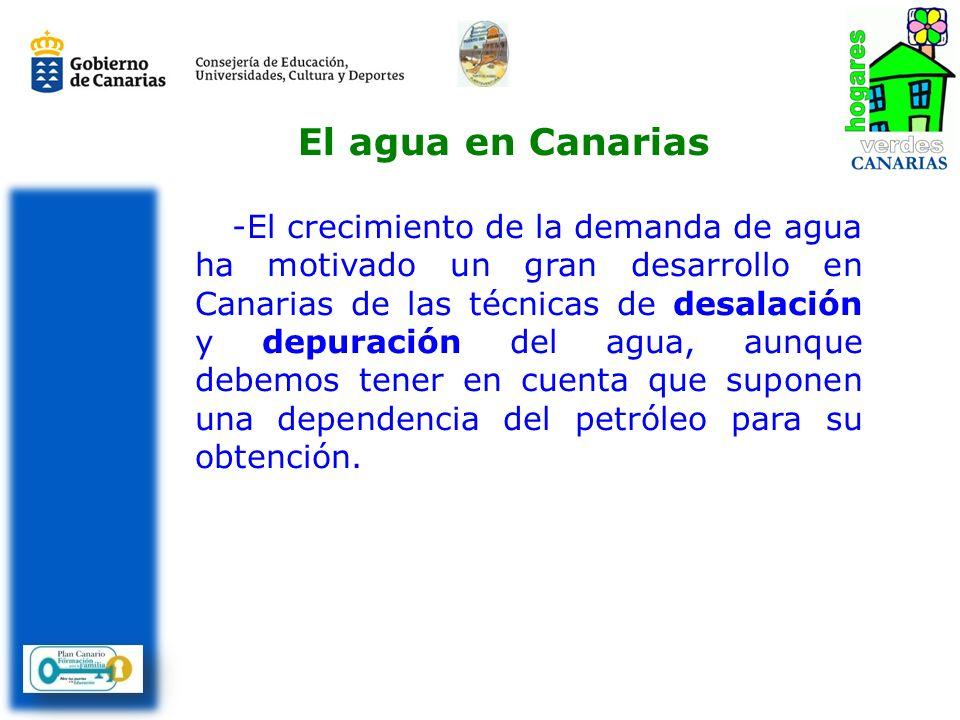 El agua en Canarias