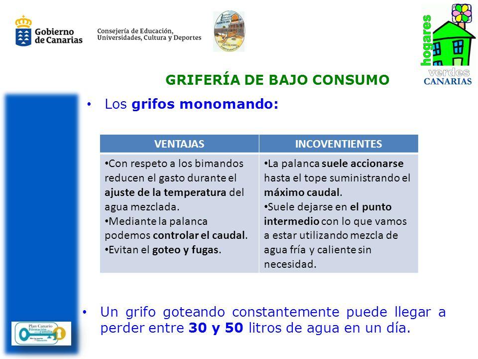 GRIFERÍA DE BAJO CONSUMO