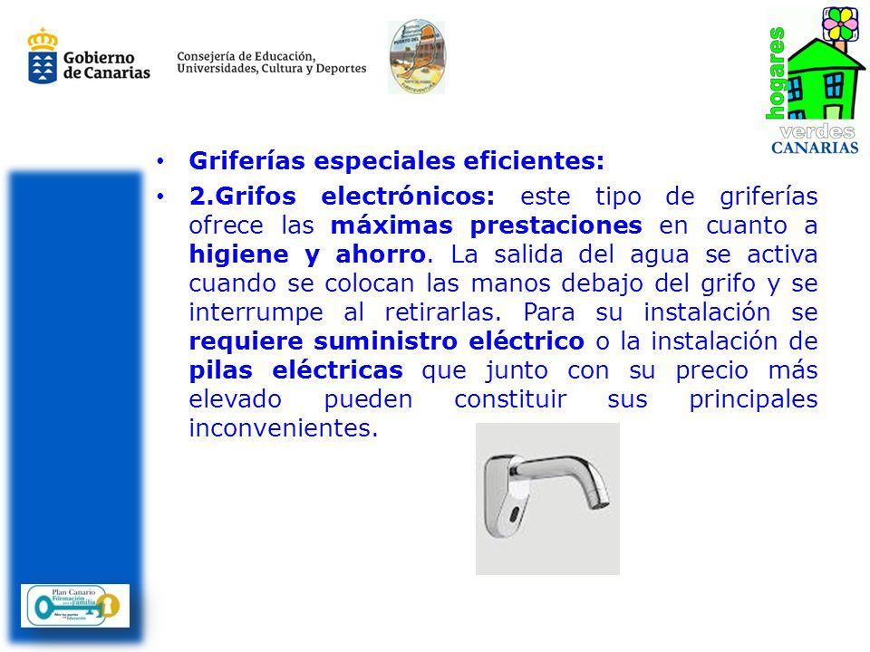 Griferías especiales eficientes: