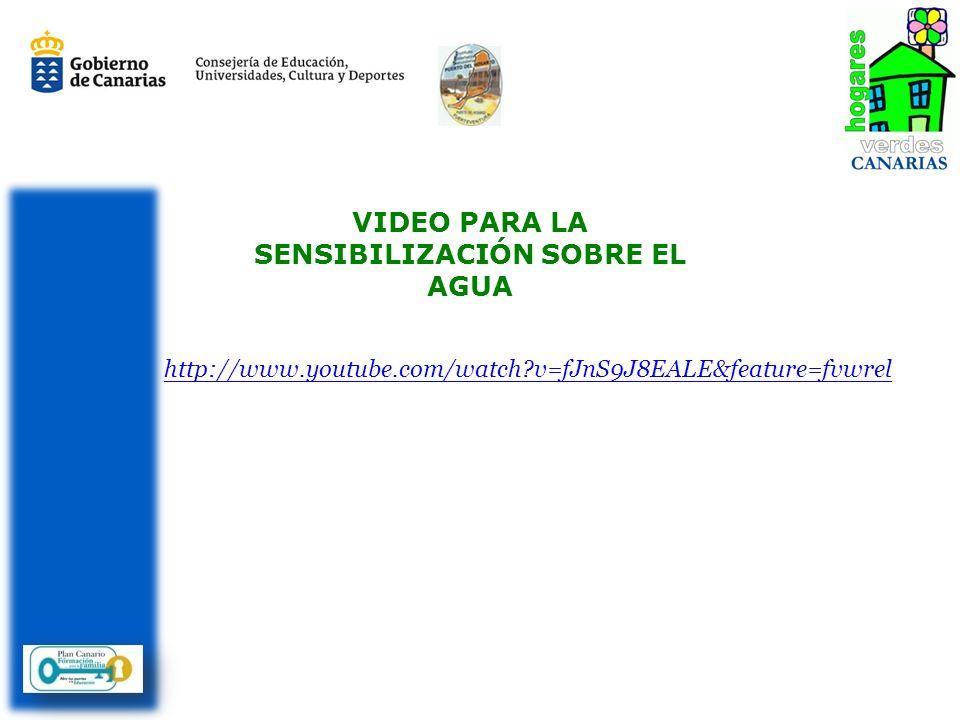 VIDEO PARA LA SENSIBILIZACIÓN SOBRE EL AGUA