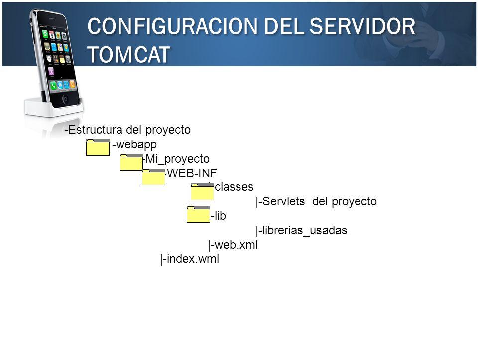 CONFIGURACION DEL SERVIDOR TOMCAT