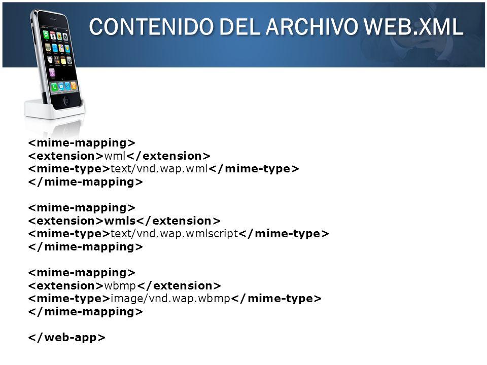 CONTENIDO DEL ARCHIVO WEB.XML