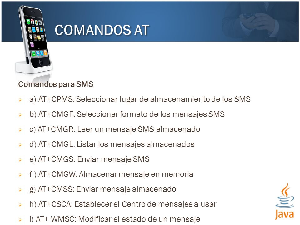 COMANDOS AT Comandos para SMS