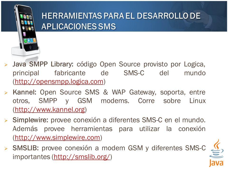 HERRAMIENTAS PARA EL DESARROLLO DE APLICACIONES SMS