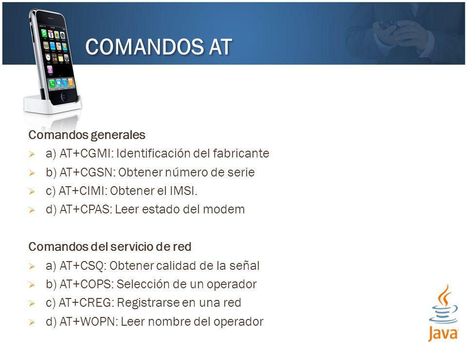 COMANDOS AT Comandos generales