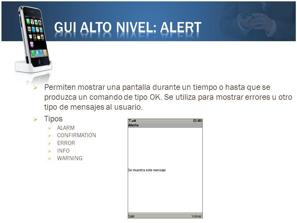 GUI Alto Nivel: Alert