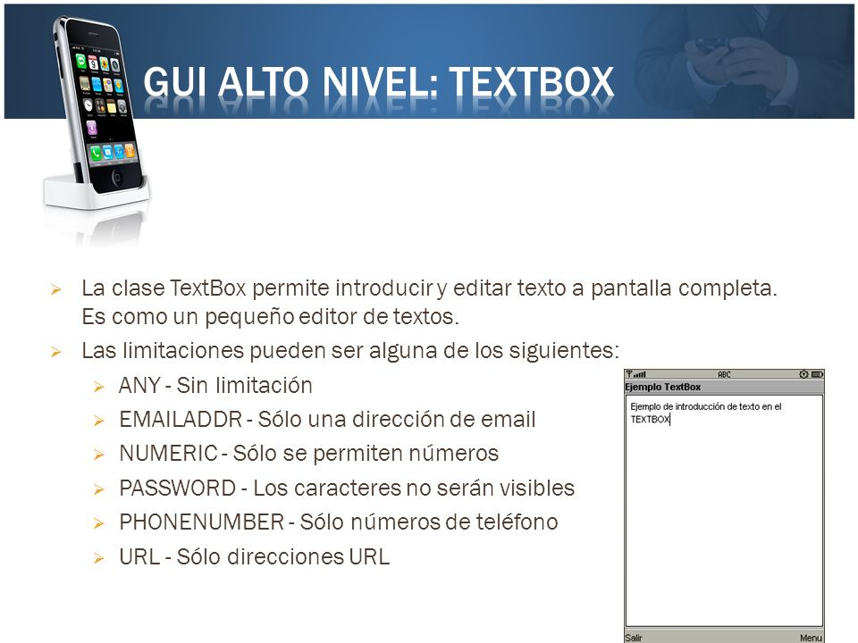 GUI Alto Nivel: TextBox