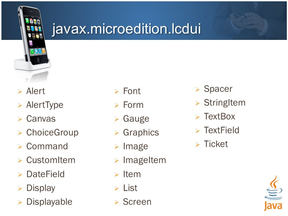 javax.microedition.lcdui