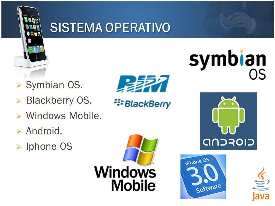 SISTEMA OPERATIVO Symbian OS. Blackberry OS. Windows Mobile. Android.