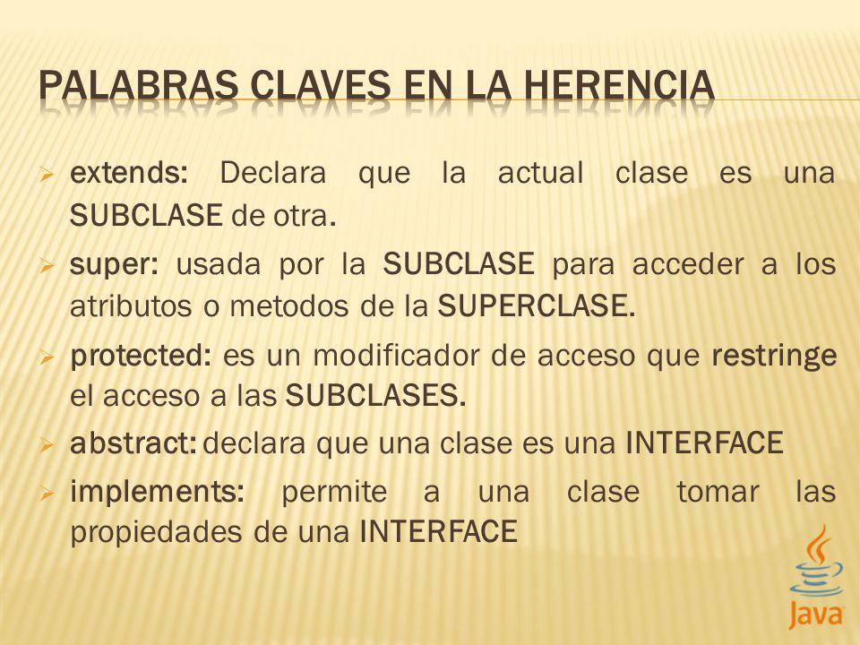 PALABRAS CLAVES EN LA HERENCIA