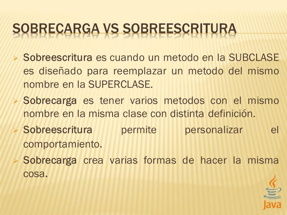 SOBRECARGA VS SOBREESCRITURA
