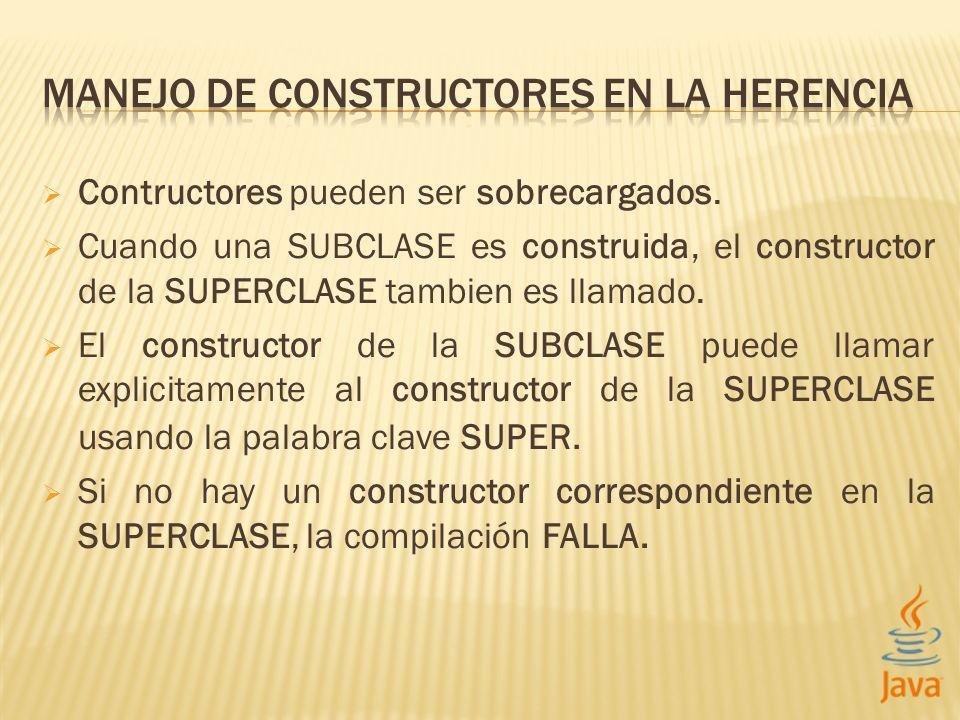 MANEJO DE CONSTRUCTORES EN LA HERENCIA