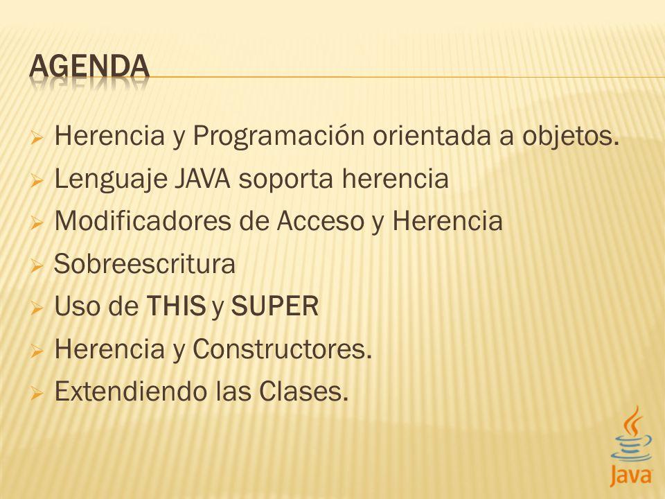 AGENDA Herencia y Programación orientada a objetos.