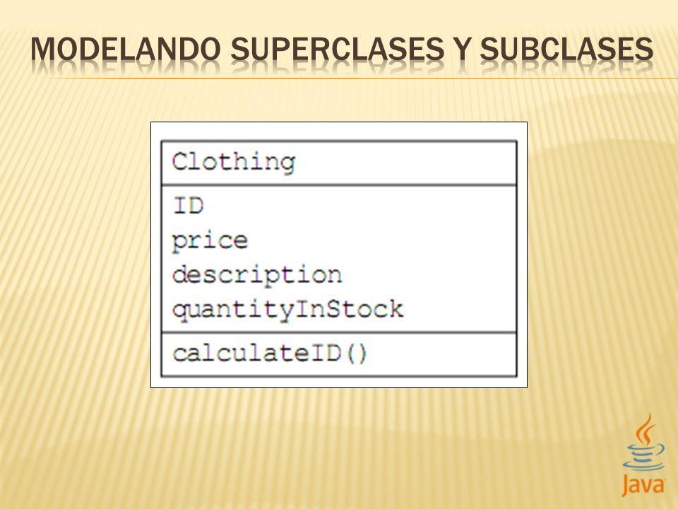 MODELANDO SUPERCLASES Y SUBCLASES