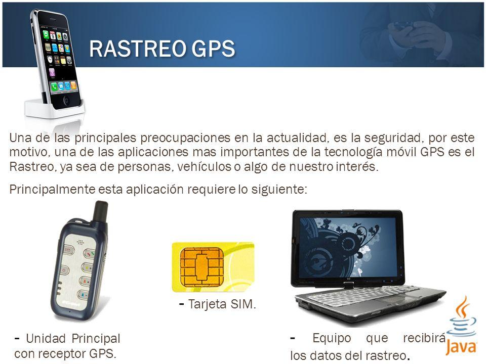 RASTREO GPS - Tarjeta SIM. - Unidad Principal con receptor GPS.