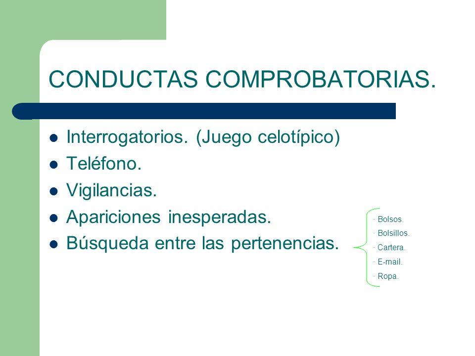 CONDUCTAS COMPROBATORIAS.