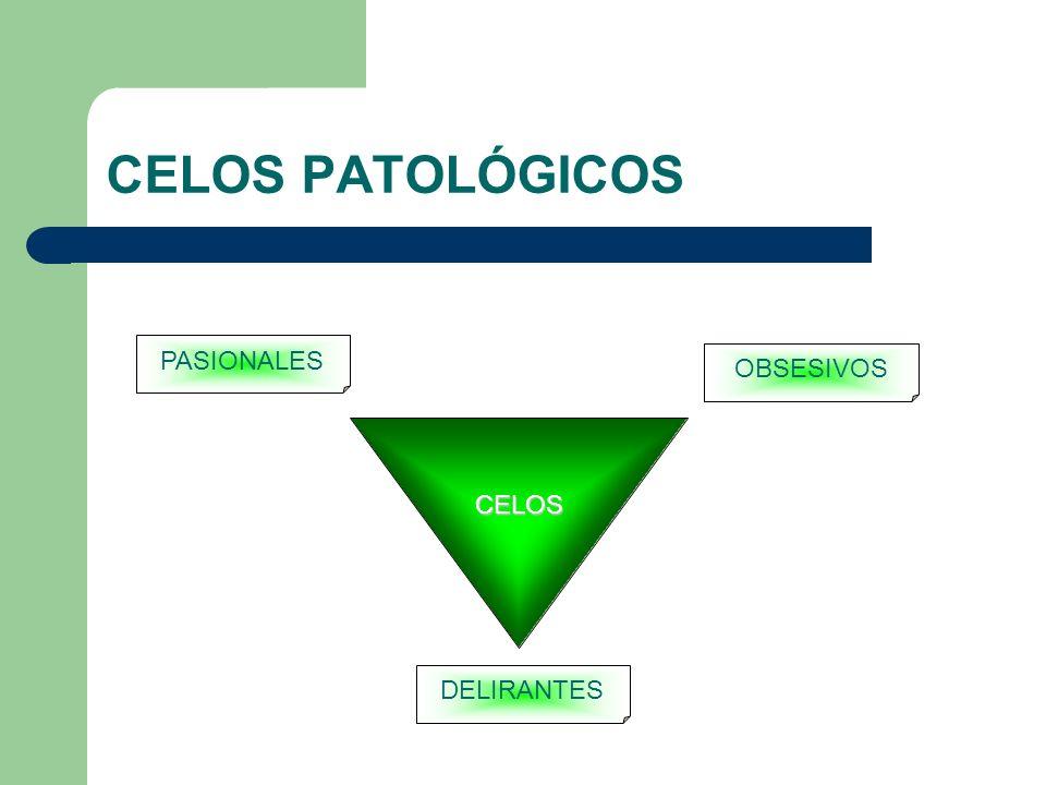 CELOS PATOLÓGICOS PASIONALES OBSESIVOS CELOS DELIRANTES