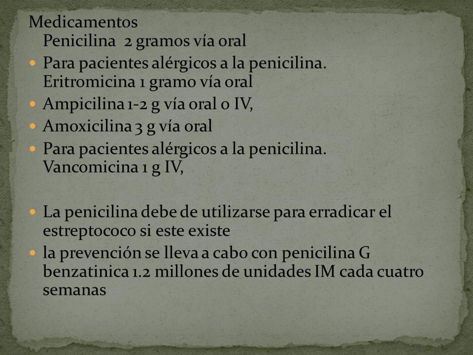 Medicamentos Penicilina 2 gramos vía oral